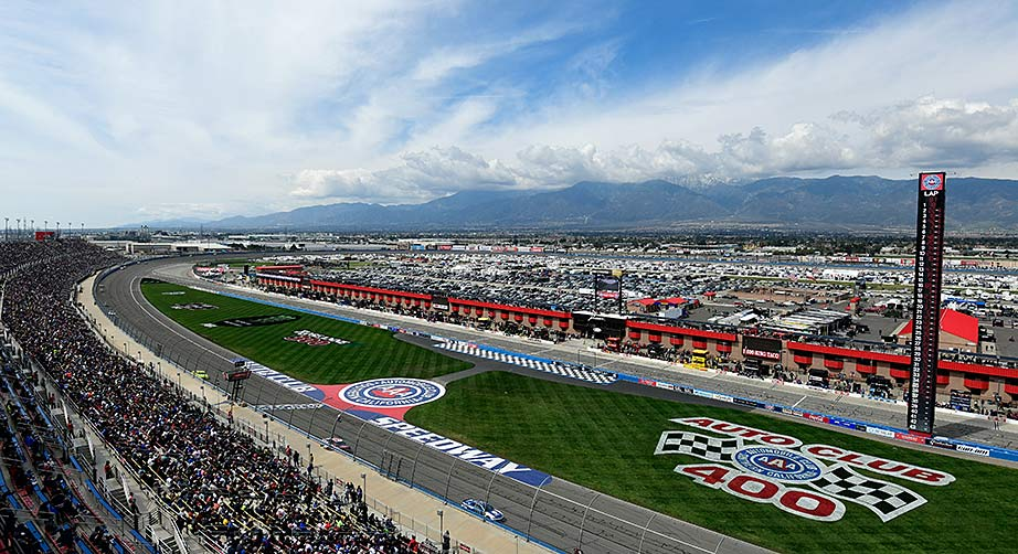 View from the track at Auto Club Speedway
