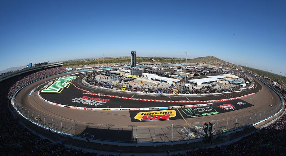 View from the track at Phoenix Raceway
