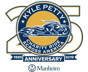 Logo for the 25th anniversary Kyle Petty Charity Ride Across America