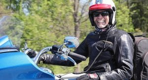 Kyle Petty savors the sights on his annual charity ride.