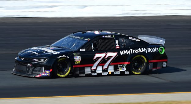LOUDON, NEW HAMPSHIRE - JULY 19: Quin Houff, driver of the #77 MyTrackMyRoots Chevrolet, qualifies for the Monster Energy NASCAR Cup Series Foxwoods Resort Casino 301 at New Hampshire Motor Speedway on July 19, 2019 in Loudon, New Hampshire. (Photo by Jared C. Tilton/Getty Images) | Getty Images
