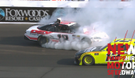 Burton spins after contact with Menard at New Hampshire