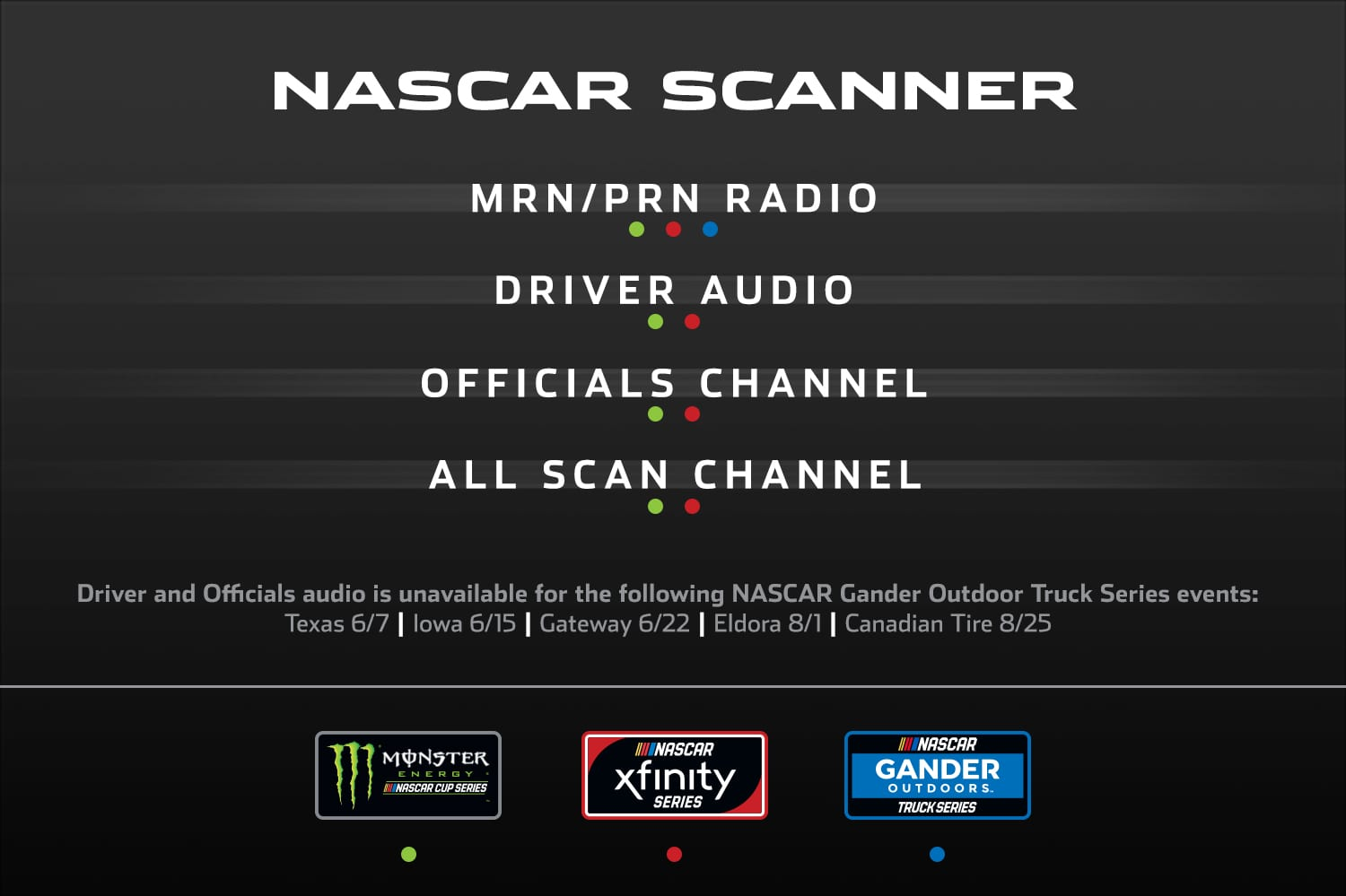 Scanner Sales Page | Official Site Of NASCAR