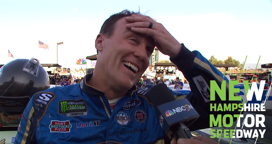 Harvick reacts: 'Been a minute' since last victory