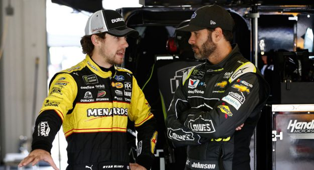 Ryan Blaney and Jimmie Johnson