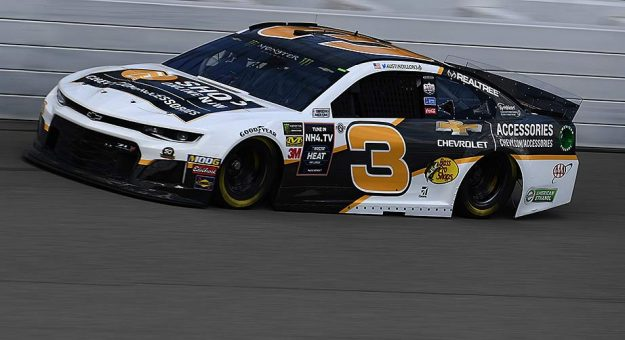 Austin Dillon makes laps in the No. 3 Chevy at Michigan.