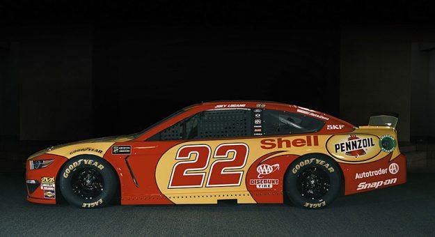 The No. 22 Ford for Joey Logano at Darlington Raceway.