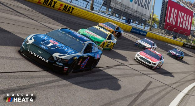 Kevin Harvick No. 4 on track at Las Vegas in NASCAR Heat 4
