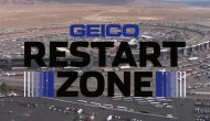 Bowyer, Menard mix it up in GEICO Restart Zone