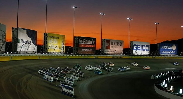 The field for the Gander Trucks event at Las Vegas Motor Speedway.