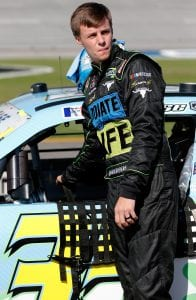 TALLADEGA, AL - APRIL 27: Joey Gase, driver of the #35 DnteLife/RgistrMe.org/Cmpgn/Gase Toyota, stands by his car during qualifying for the NASCAR Xfinity Series MoneyLion 300 at Talladega Superspeedway on April 27, 2019 in Talladega, Alabama. (Photo by Brian Lawdermilk/Getty Images)   Getty Images