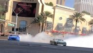Watch dueling burnouts from Las Vegas Strip -- one in augmented reality
