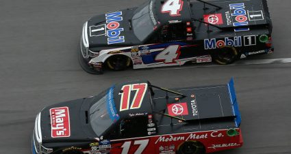 Todd Gilliland drives No. 4 Toyota Tundra to second-place finish at Talladega Superspeedway
