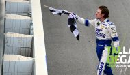 Old School: Blaney forgoes burnout, hands kid checkered flag