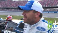 Newman reacts to photo finish with Blaney at Talladega