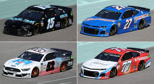 The four teams (Nos. 15, 27, 52, 77) penalized after Homestead-Miami Speedway.