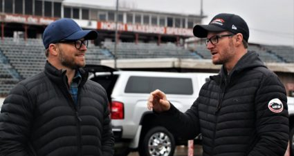 Dale Jr., crew clean up North Wilkesboro Speedway for iRacing track scan