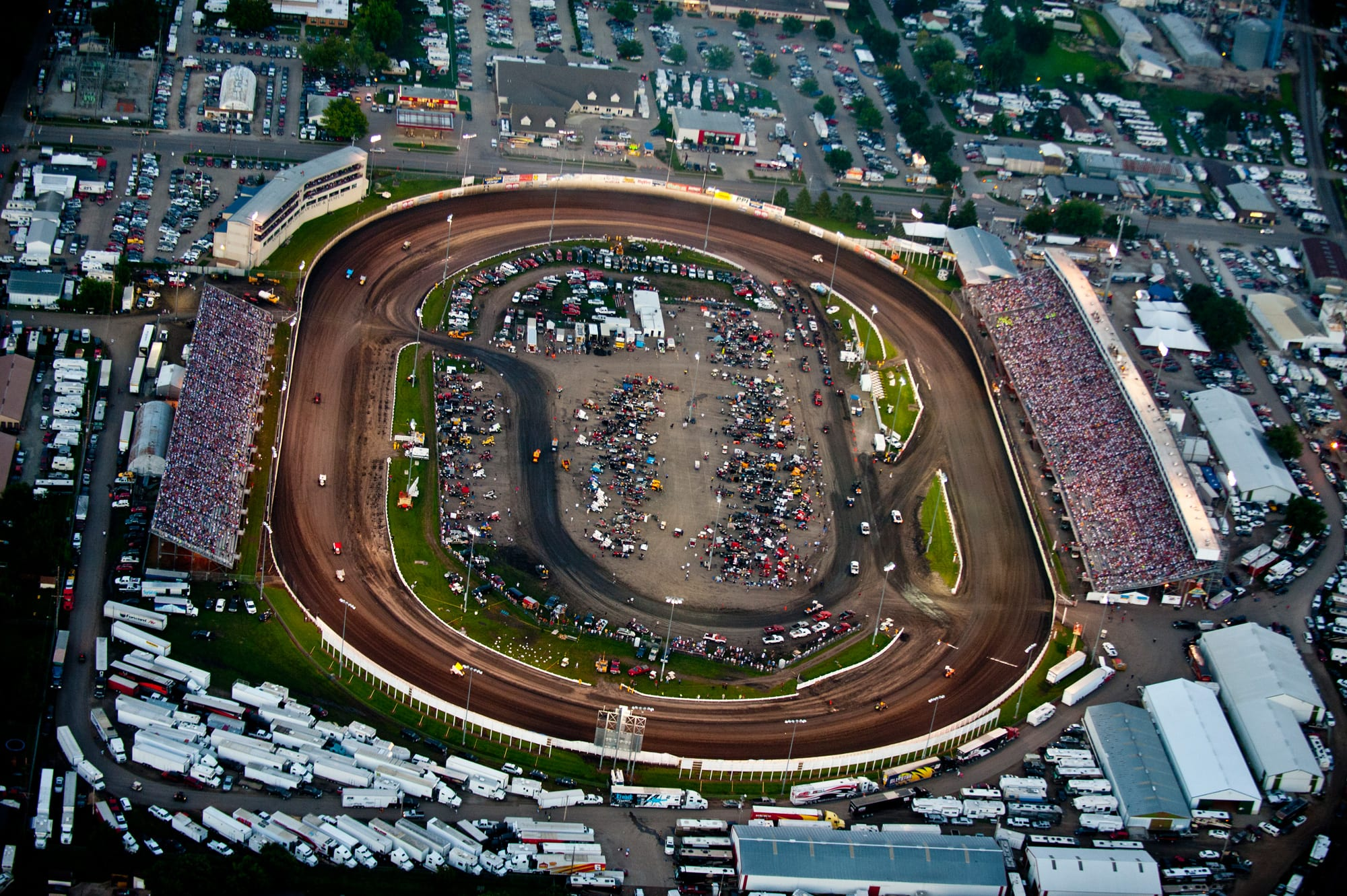 View from the track at Knoxville Raceway