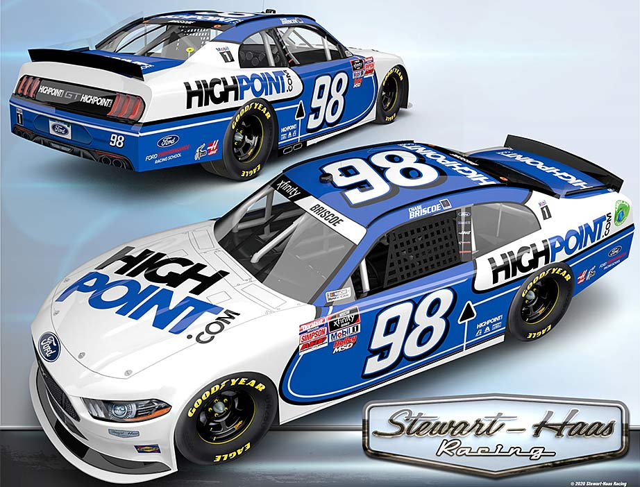SHR adds HighPoint as IT provider, 10-race sponsor for Chase Briscoe