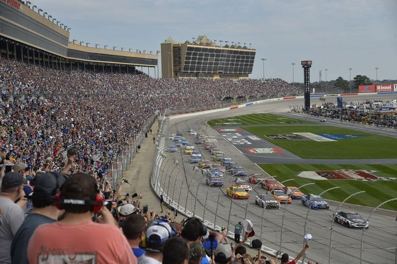 View from the track at Atlanta Motor Speedway