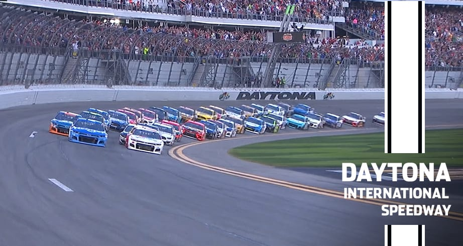 Dale Jr. waves the green flag for the Daytona 500