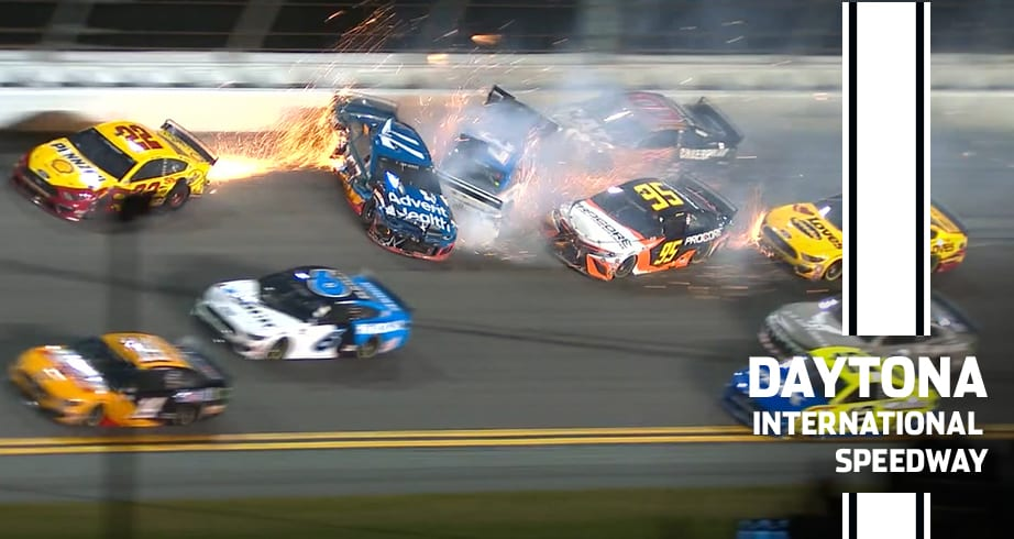 Ross Chastain collects Joey Logano in Daytona 500 wreck