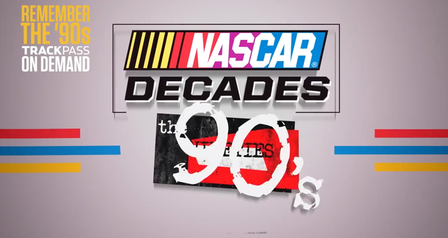 NASCAR Decades: The 90's on NBC's Trackpass