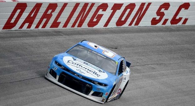 DARLINGTON, SOUTH CAROLINA - MAY 17: Ryan Preece, driver of the #37 Cottonelle Chevrolet, drives during the NASCAR Cup Series The Real Heroes 400 at Darlington Raceway on May 17, 2020 in Darlington, South Carolina. NASCAR resumes the season after the nationwide lockdown due to the ongoing coronavirus (COVID-19).  (Photo by Jared C. Tilton/Getty Images) | Getty Images