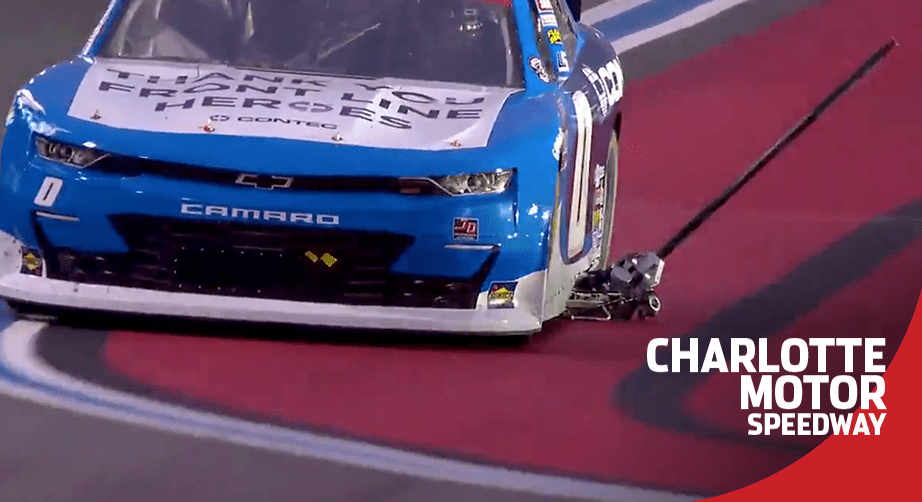 Jeffrey Earnhardt drags a jack around the race track