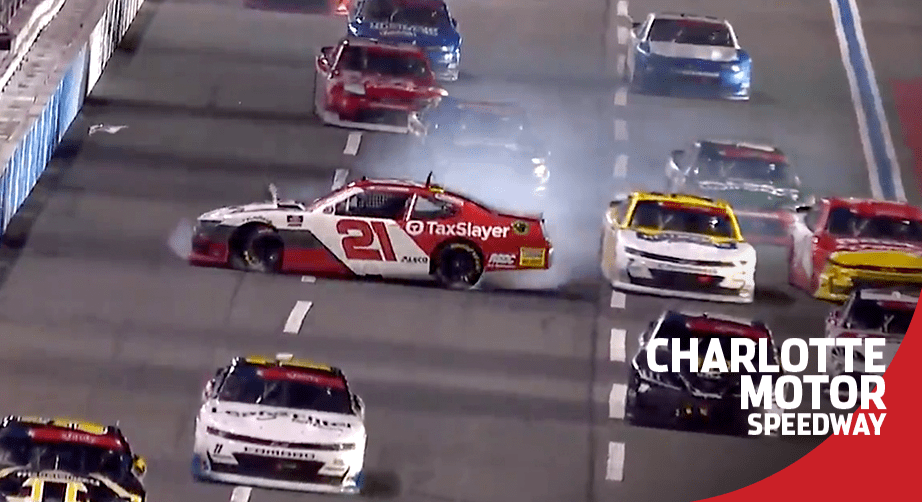 Myatt Snider wrecks late at Charlotte Motor Speedway