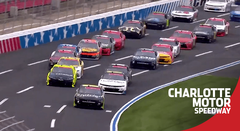 NASCAR Xfinity Series sets off from Charlotte Motor Speedway