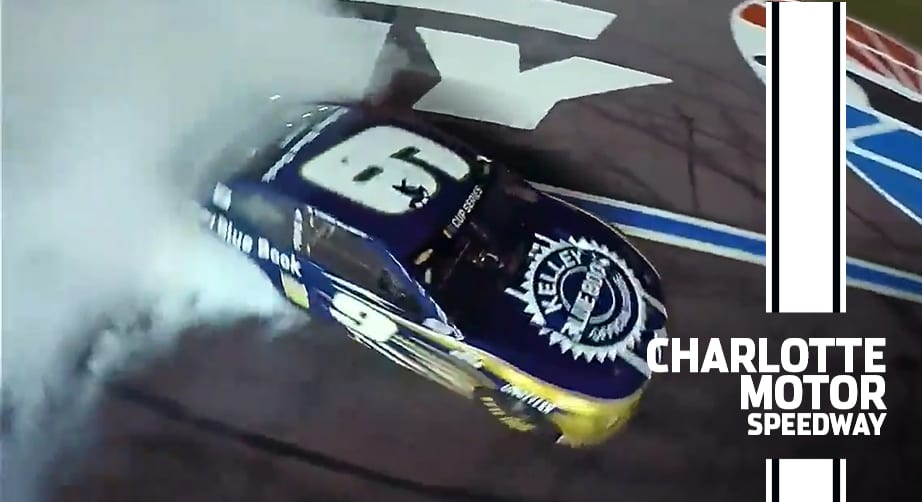 On the chip: Chase Elliott's wild burnout