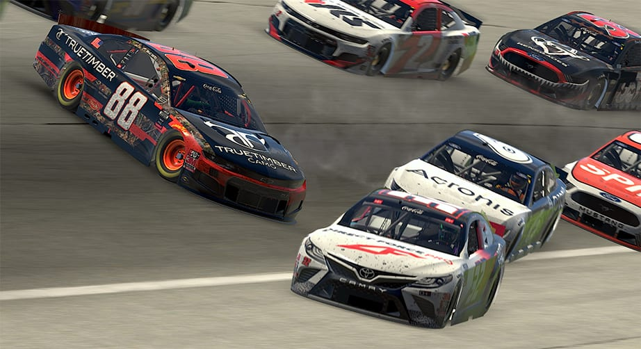 Chaos early at Atlanta in iRacing