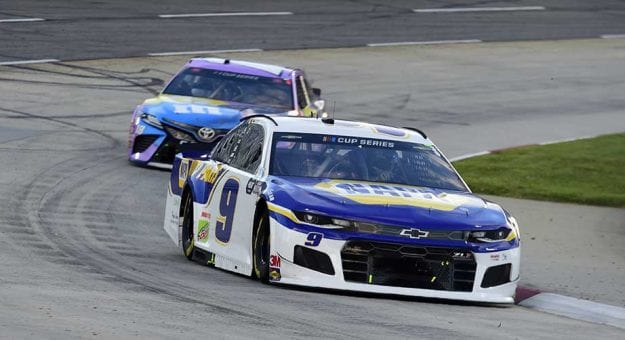 MARTINSVILLE, VIRGINIA - JUNE 10: Chase Elliott, driver of the #9 NAPA Auto Parts Chevrolet, drives during the NASCAR Cup Series Blue-Emu Maximum Pain Relief 500 at Martinsville Speedway on June 10, 2020 in Martinsville, Virginia. (Photo by Jared C. Tilton/Getty Images)   Getty Images