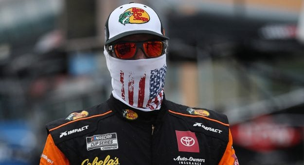 HOMESTEAD, FLORIDA - JUNE 14: Martin Truex Jr., driver of the #19 Toyota, walks on the grid prior to the NASCAR Cup Series Dixie Vodka 400 at Homestead-Miami Speedway on June 14, 2020 in Homestead, Florida. (Photo by Chris Graythen/Getty Images) | Getty Images