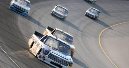 Derek Kraus drives No. 19 Toyota Tundra to eighth-place finish at Michigan International Speedway
