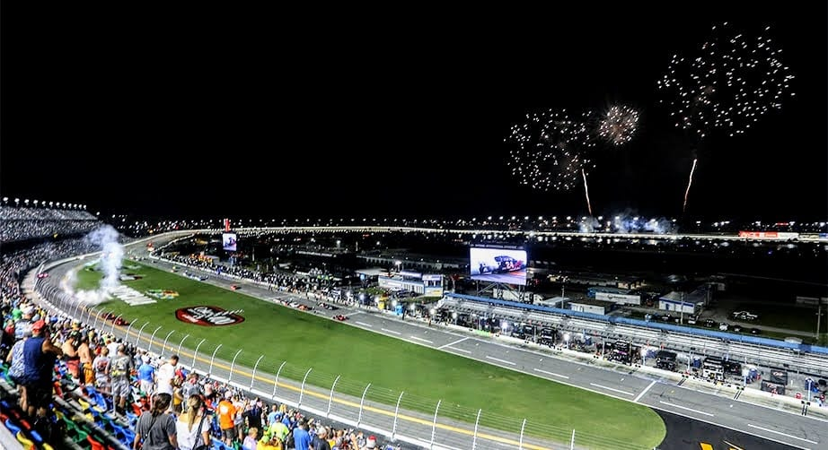View from the track at Daytona International Speedway
