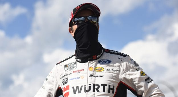 DOVER, DELAWARE - AUGUST 23: Brad Keselowski, driver of the #2 Wurth Ford, waits on the grid prior to the NASCAR Cup Series Drydene 311 at Dover International Speedway on August 23, 2020 in Dover, Delaware. (Photo by Jared C. Tilton/Getty Images) | Getty Images