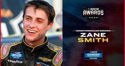 Zane Smith wins Most Popular Driver in Gander Trucks
