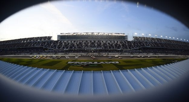 DAYTONA BEACH, FLORIDA - FEBRUARY 17: Cars race during the NASCAR Cup Series 62nd Annual Daytona 500 at Daytona International Speedway on February 17, 2020 in Daytona Beach, Florida. (Photo by Jared C. Tilton/Getty Images) | Getty Images