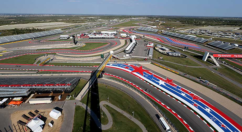 View from the track at Circuit of the Americas