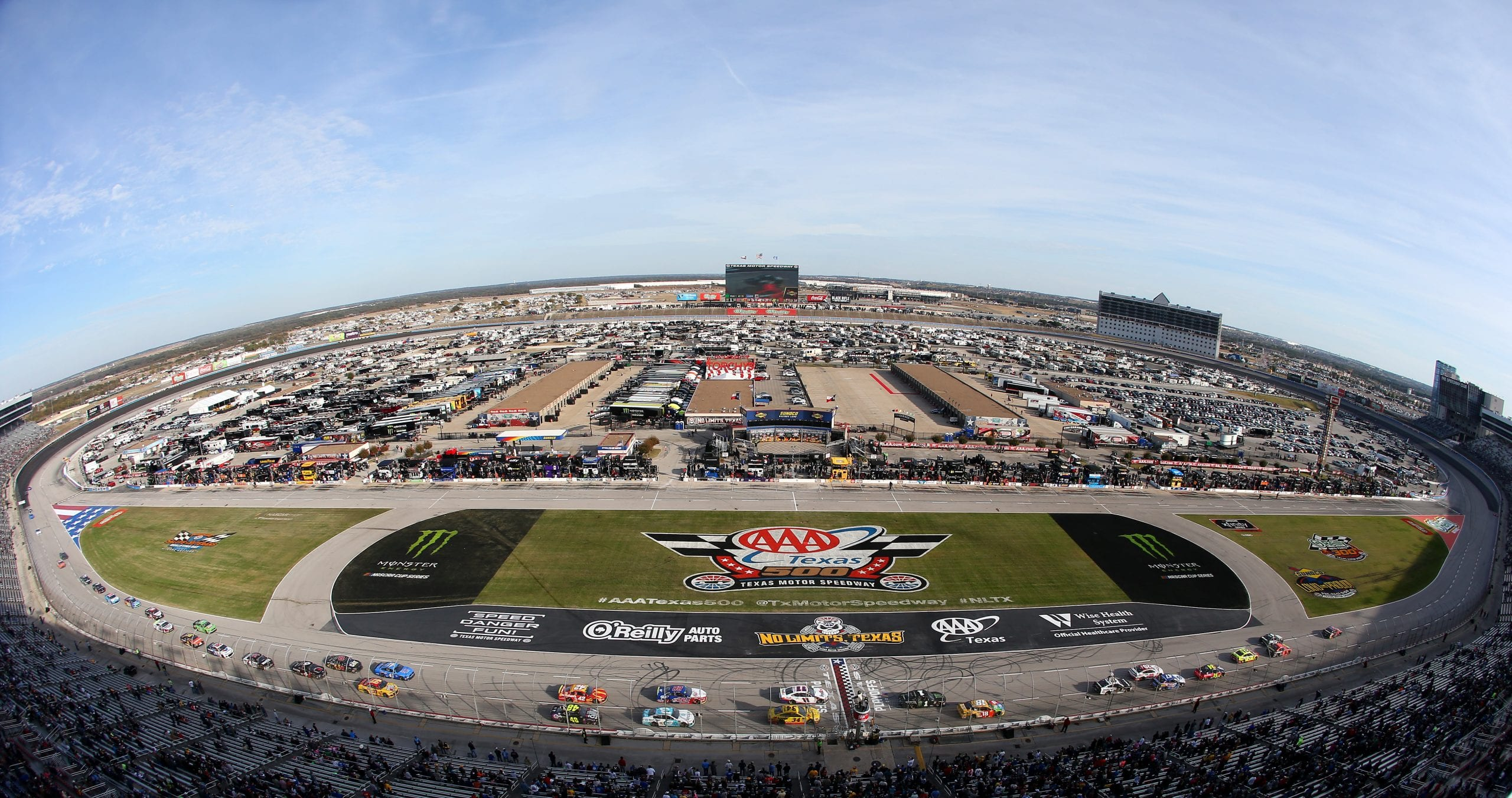 View from the track at Texas Motor Speedway