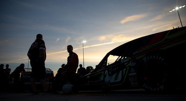 during the ARCA Menards Series Skips Western Outfitters 175 at New Smyrna Speedway on Monday, Feb. 10, 2020 in New Smyrna, Fla.  (Photo by Matt Stamey)