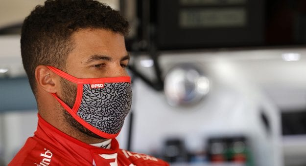 DAYTONA BEACH, FLORIDA - FEBRUARY 10: Bubba Wallace, driver of the #23 Door Dash Toyota, stands the garage area during practice for the NASCAR Cup Series 63rd Annual Daytona 500 at Daytona International Speedway on February 10, 2021 in Daytona Beach, Florida. (Photo by Chris Graythen/Getty Images)   Getty Images