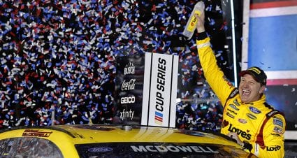 Michael McDowell misses last-lap crash, scores first victory in Daytona 500