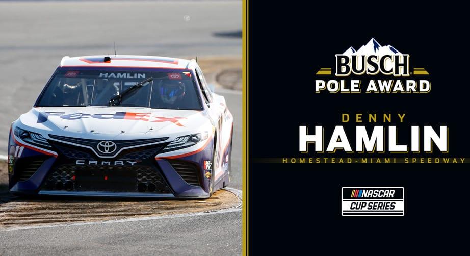 Denny Hamlin wins Busch Pole for Homestead-Miami | NASCAR