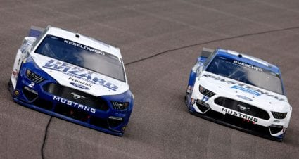 Chris Buescher drives No. 17 Ford Mustang to 14th-place finish at Las Vegas Motor Speedway