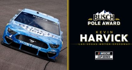 Kevin Harvick wins Busch Pole Award for Las Vegas; see full lineup