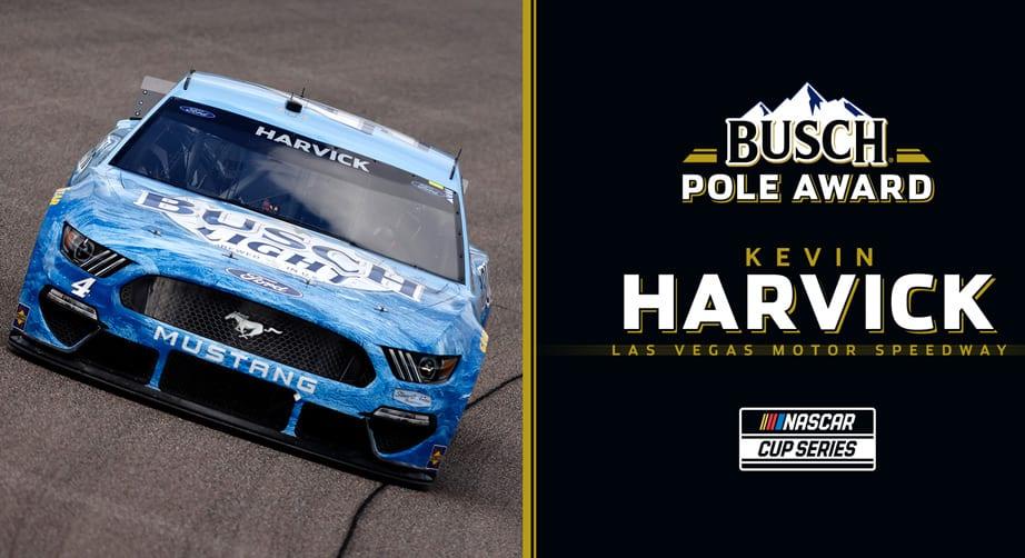 Kevin Harvick wins Busch Pole Award for Las Vegas   NASCAR