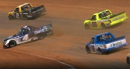 Nemechek-Crafton incident sparks tempers in garage after Trucks' Bristol dirt race